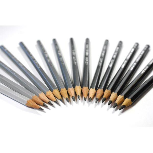 Différents-crayons-graphite-pour-le-dessin