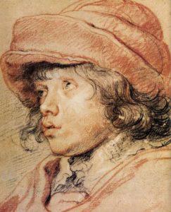 Portrait à la pierre noire de Rubens