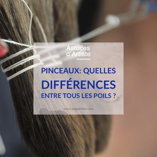 Pinceaux : Quelles différences entre tous les poils ?