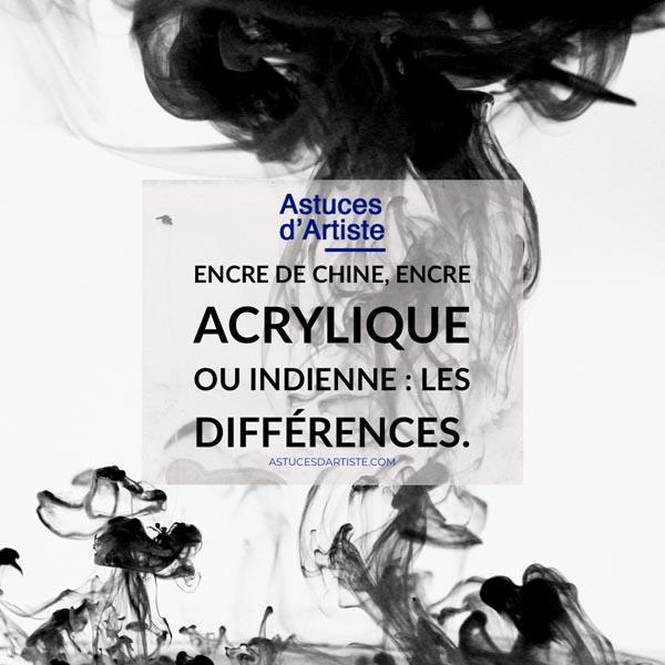 Read more about the article Encre de Chine, encre acrylique ou indienne : les différences.
