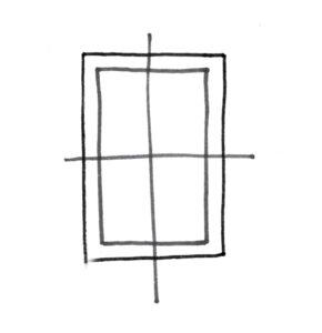 Pour bien commencer votre dessin, placez les axes de symétrie