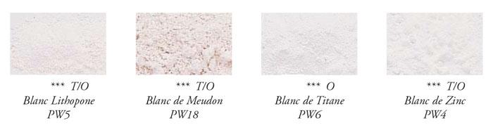 """Le nom des couleurs """"Blancs"""" en peinture."""