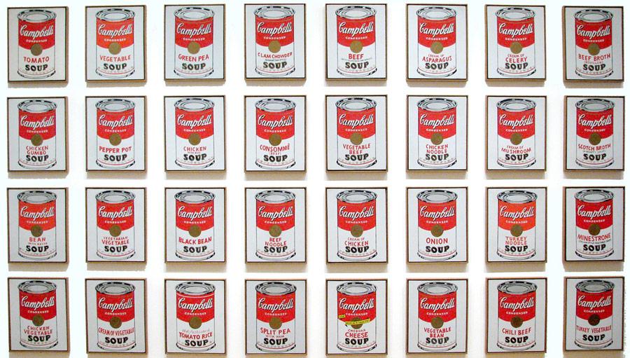 Andy Warhol, (1962), Acrylique et liquitex® en sérigraphie sur toile, Série de 32 toiles.
