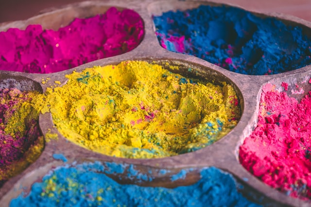 Échantillons de pigments