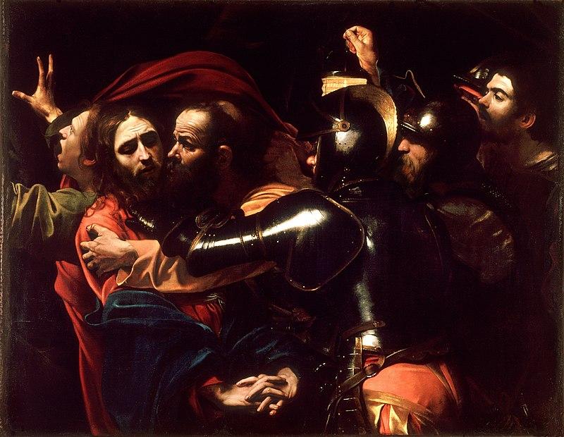 Le Caravage, L'arrestation du Christ