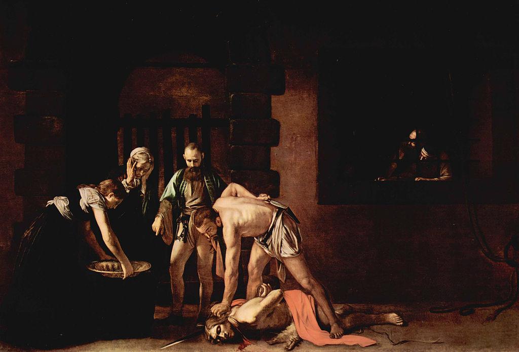 La Décollation de saint Jean-Baptiste, Le Caravage