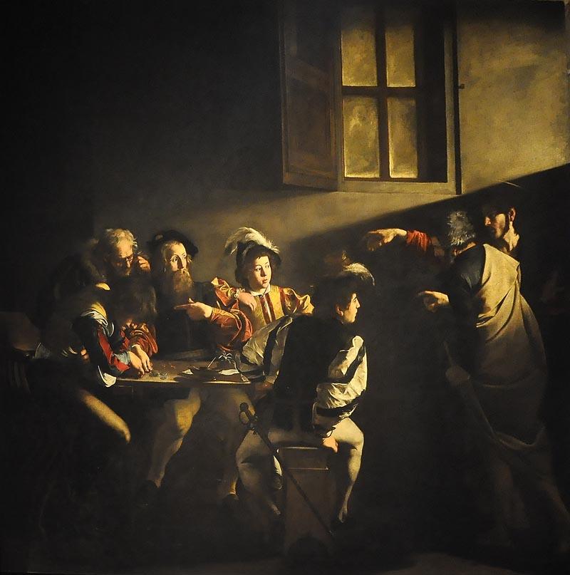 Le Caravage, La vocation de Saint Matthieu,